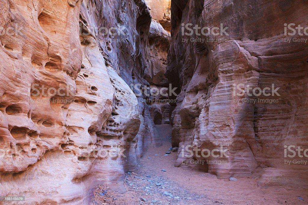 Slot canyon colors stock photo