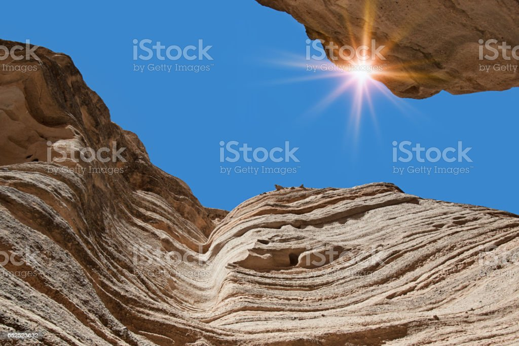 Slot Canyon Trail in Kasha-Katuwe Tent Rocks National Monument stock photo