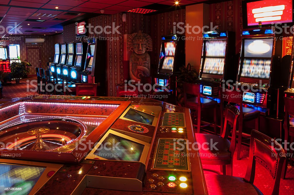 Slot Machine and Roulette stock photo