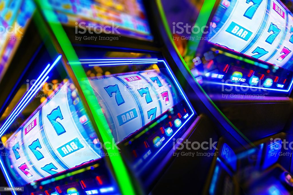 Slot Machine Casino Mania stock photo