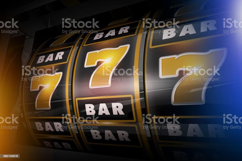 Slot Machine Concept 3D stock photo