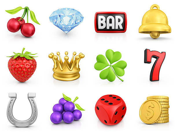 slot machine icons stock photo