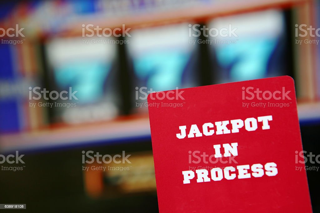 Slot Machine Jackpot stock photo