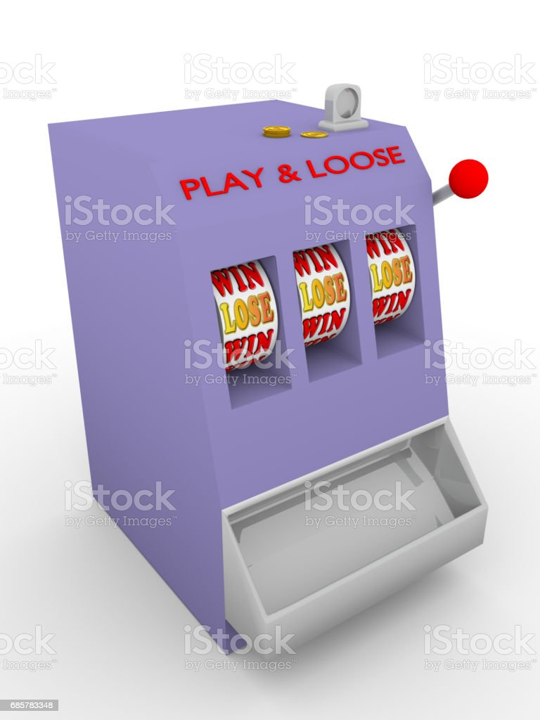 slot machine lose royalty-free stock photo