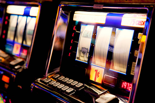 Slot machine Slot machine game of chance stock pictures, royalty-free photos & images
