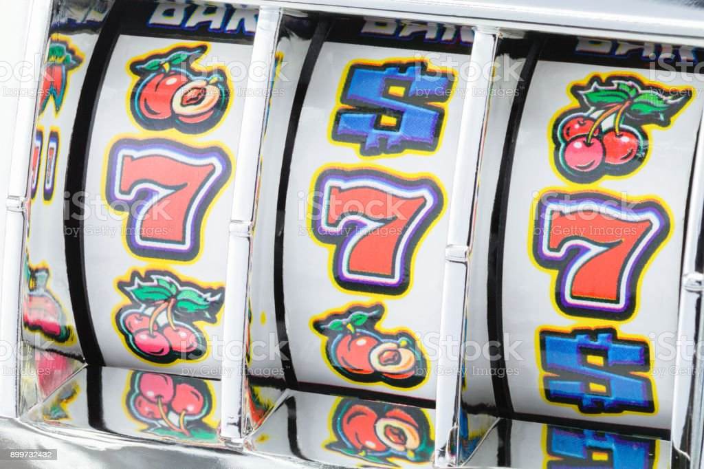 Slot Machine Sevens stock photo
