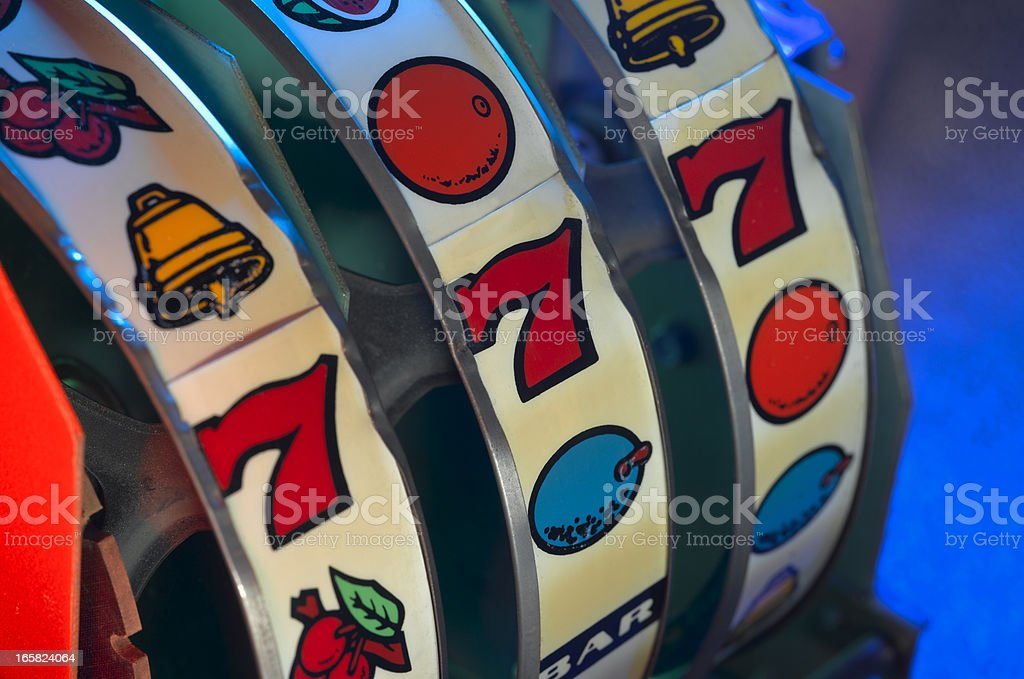 Slot Machine Wheels stock photo