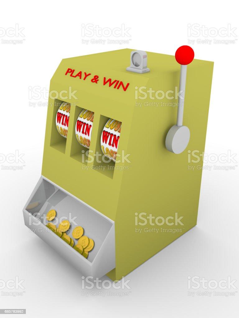 Slot machine win royalty-free stock photo