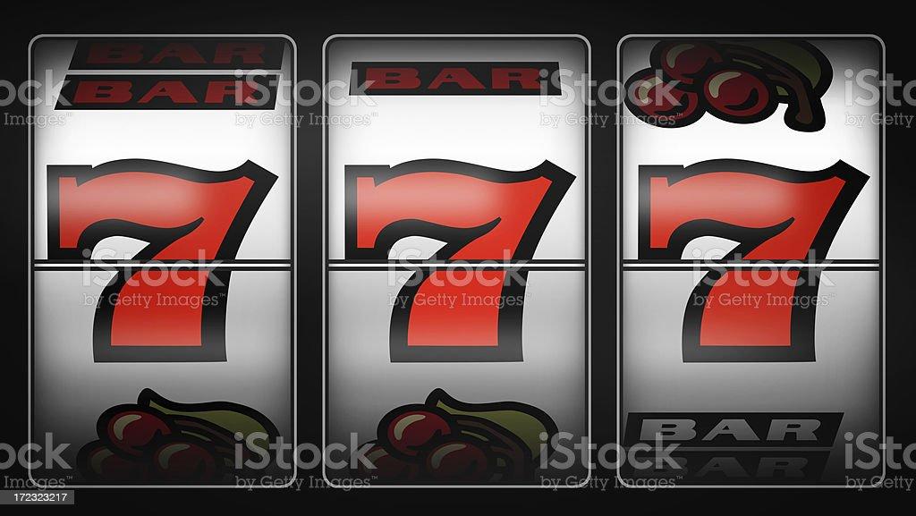 Slot Machine Winner 777 royalty-free stock photo