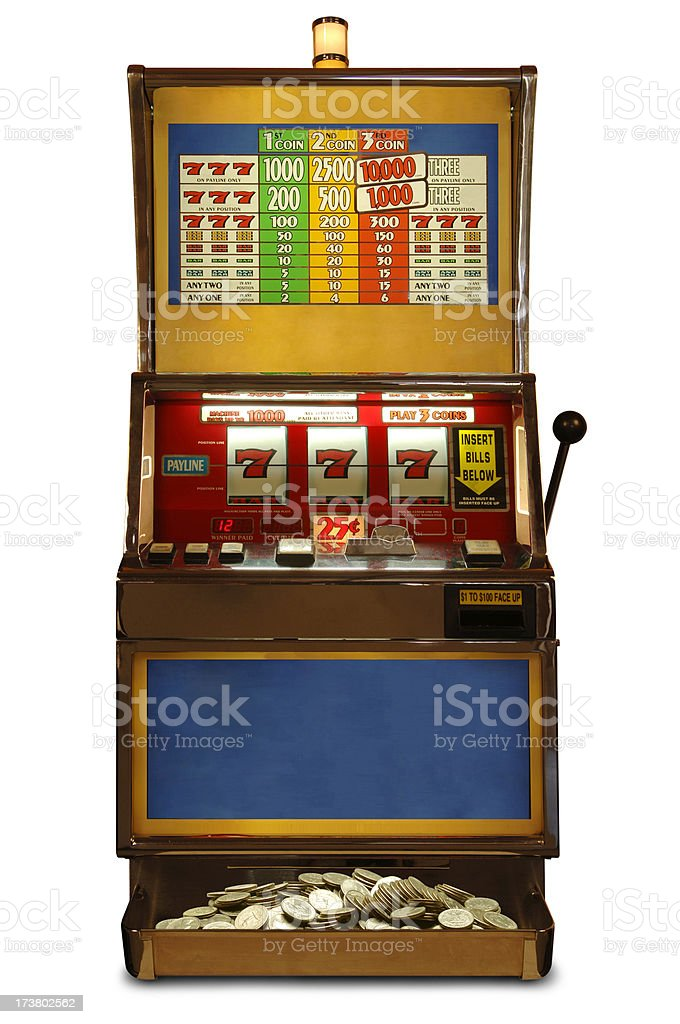 Slot Machine with Path stock photo