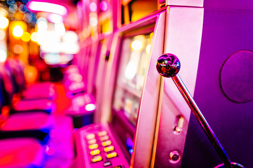 Slot machines in Casino. Property released.