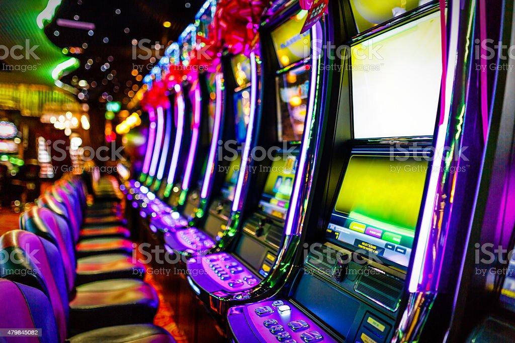 Slot machines in Casino stock photo