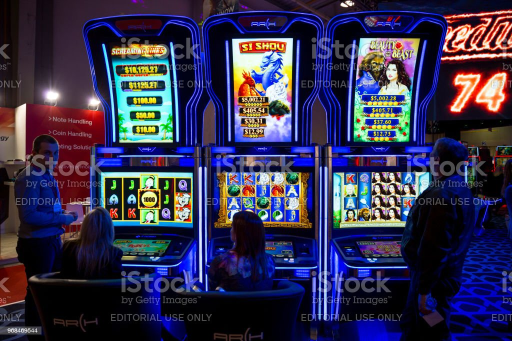 Slot Machines In Casino Stock Photo - Download Image Now - iStock