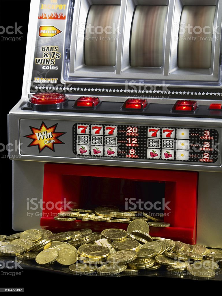 Slot-Machine stock photo