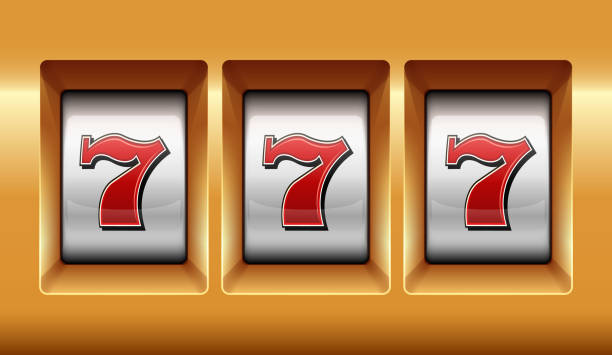 Slots 777 casino jackpot modern light gold. Slots 777 casino jackpot modern light gold. Big win slots 777 banner casino close up. Vector stock. number 7 stock pictures, royalty-free photos & images