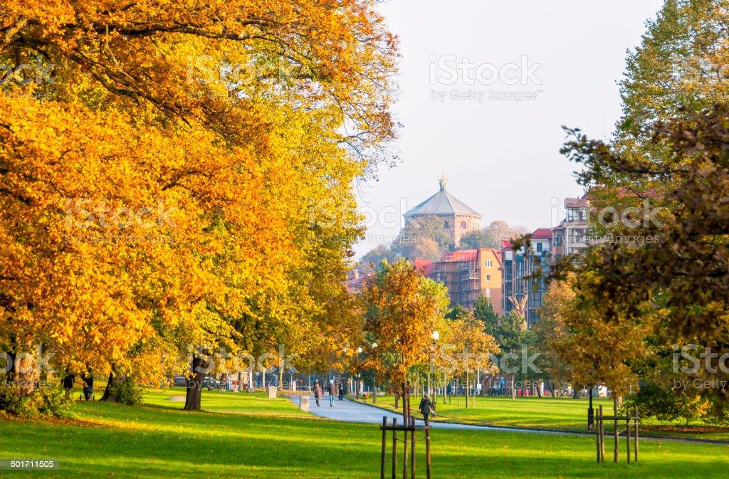 Slottsskogen park in Gothenburg stock photo