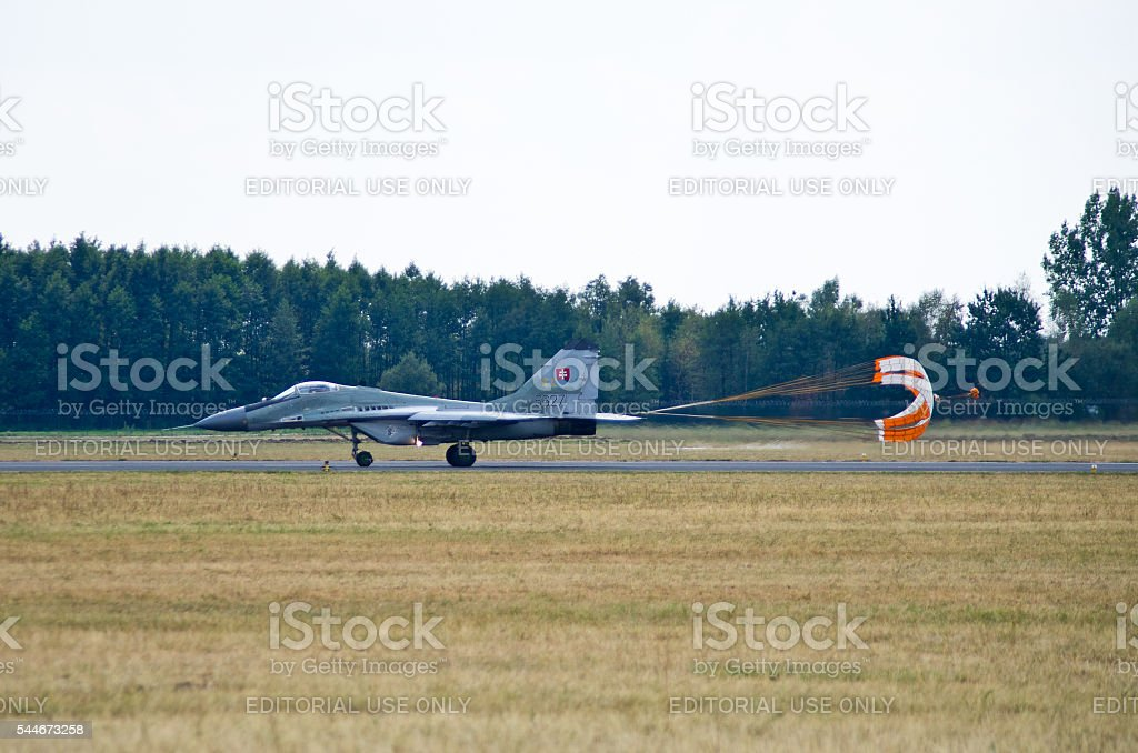 Slovak Mig-29 on Radom Airshow, Poland stock photo