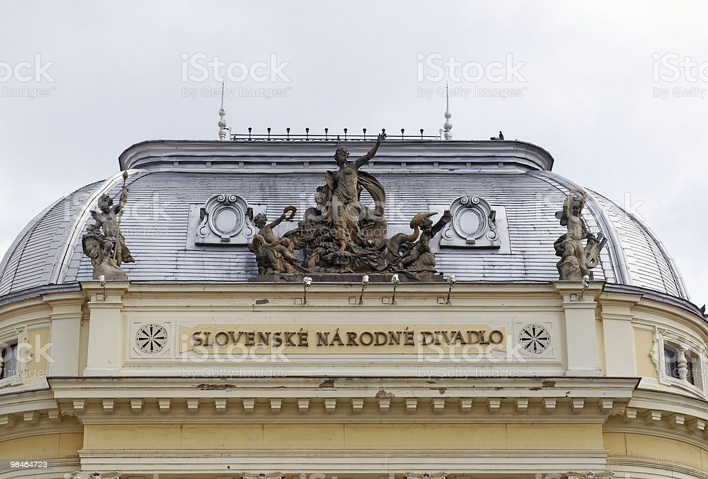Slovak national theater royalty-free stock photo