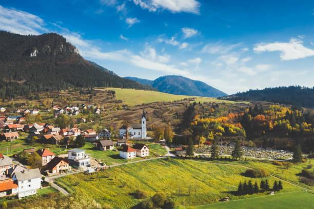 슬로바키아 시골 - 슬로바키아 뉴스 사진 이미지