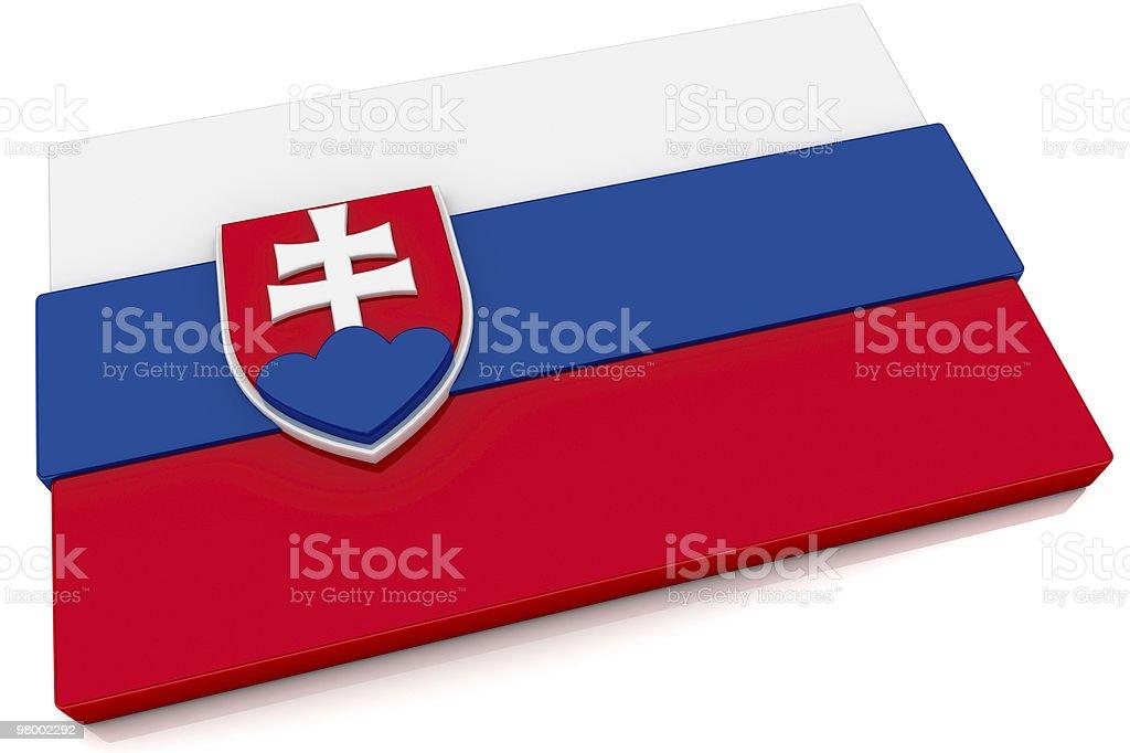 3D Slovakia Flag Button royalty free stockfoto