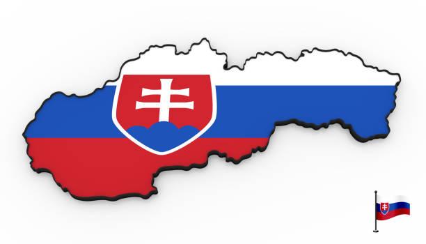 Carte 3D haute détaillée de Slovaquie - Photo