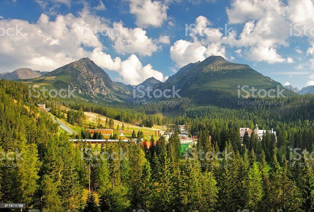 Slovakia national park, High Tatras stock photo