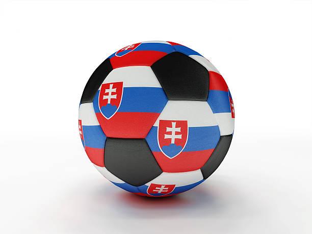 Slovakia soccer football ball stock photo