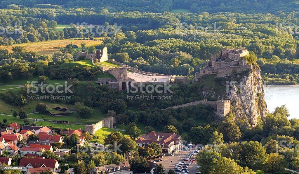 Slovakia village Devin in Bratislava stock photo