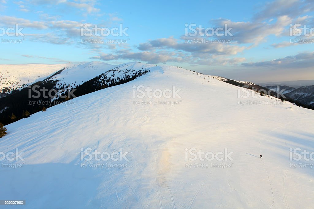 Slovakia winter mountain - Velka Fatra stock photo