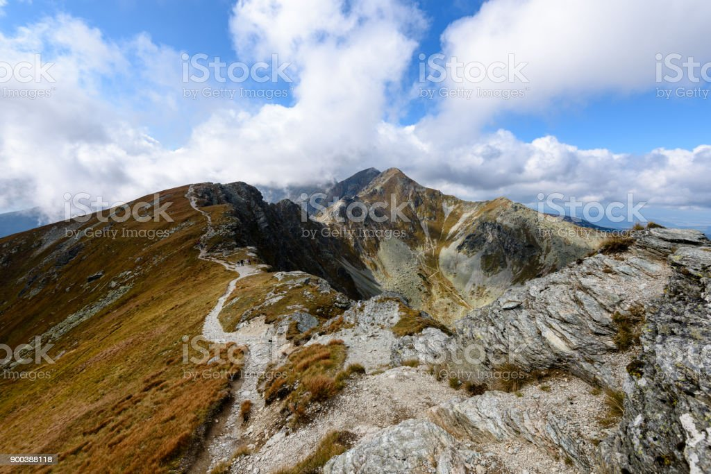 slovakian carpathian mountains in autumn. stock photo