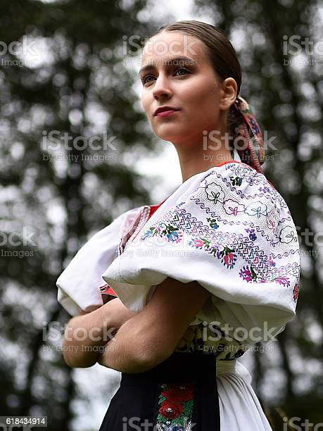 Slovakian Folklore Dancer Stock Photo - Download Image Now