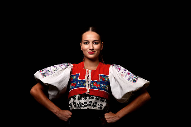 slovakian folklore dancer - Photo