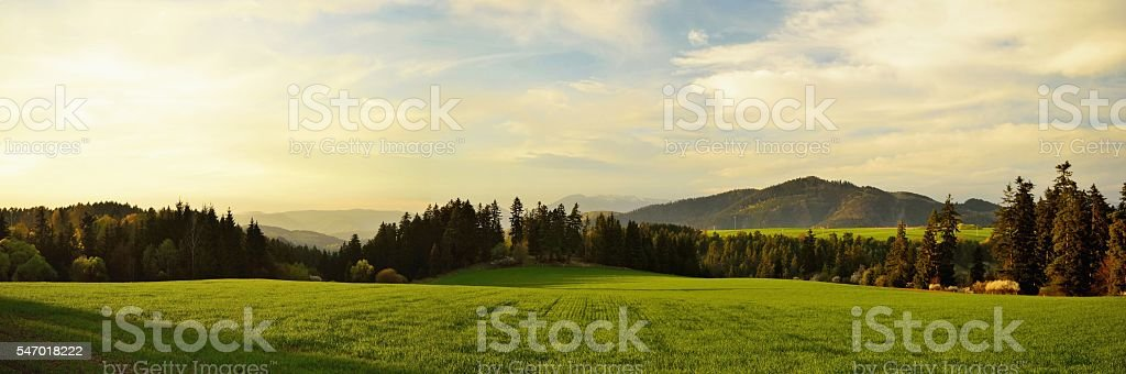 Slovakian landscape stock photo