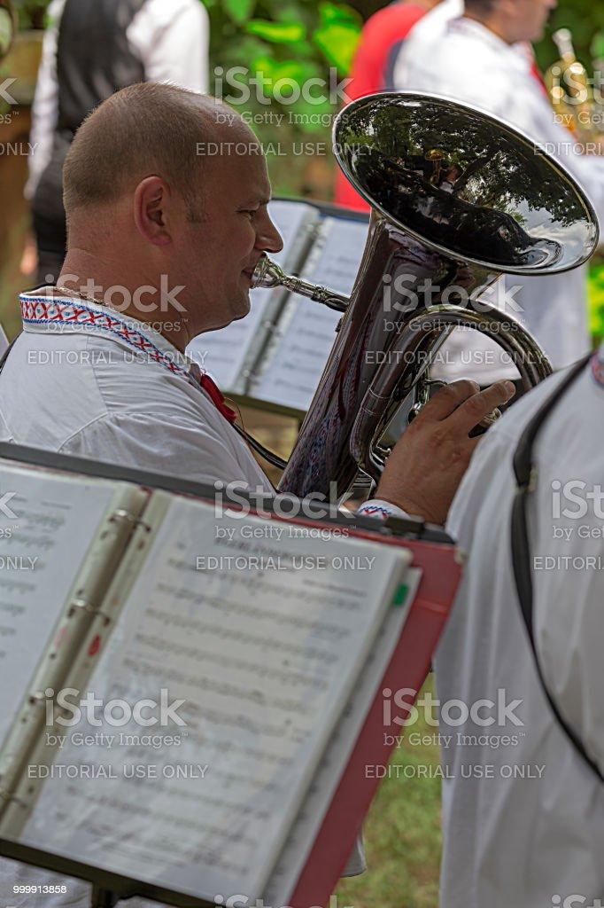 Chanteuse slovaque hommes trombone Banat - Photo