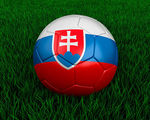 Slovakian soccer ball stock photo