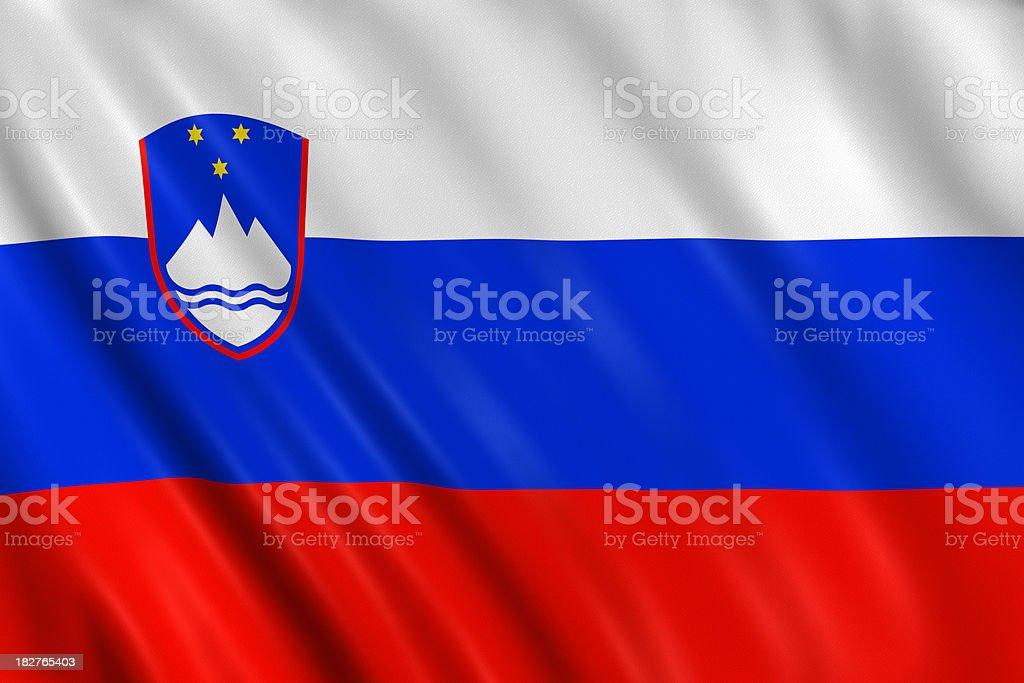 slovenia flag royalty-free stock photo