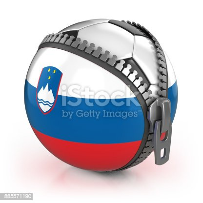 istock Slovenia football nation 3d isolated illustration 885571190