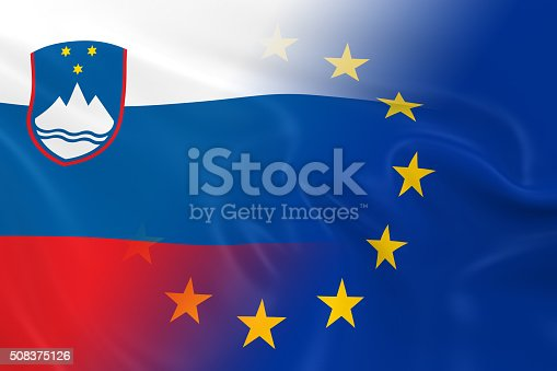 istock Slovenian and European Relations Concept Image 508375126