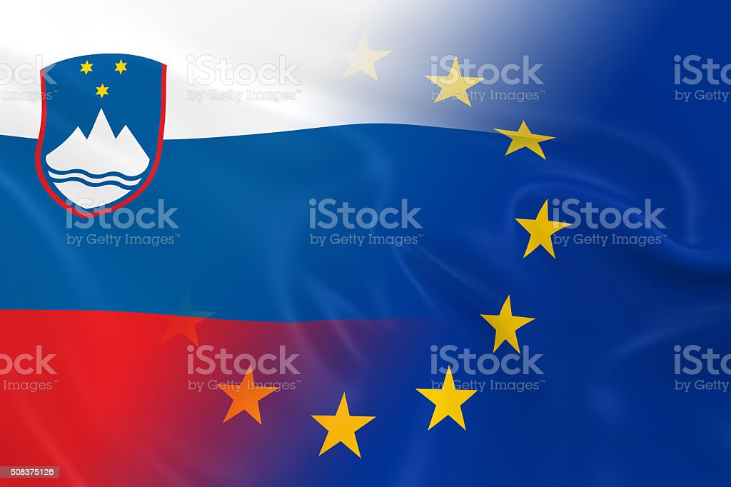 Slovenian and European Relations Concept Image stock photo