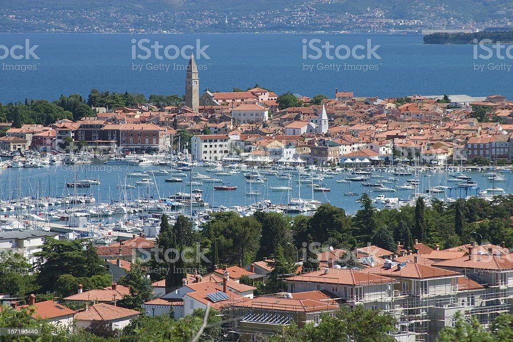 Slovenian coast stock photo