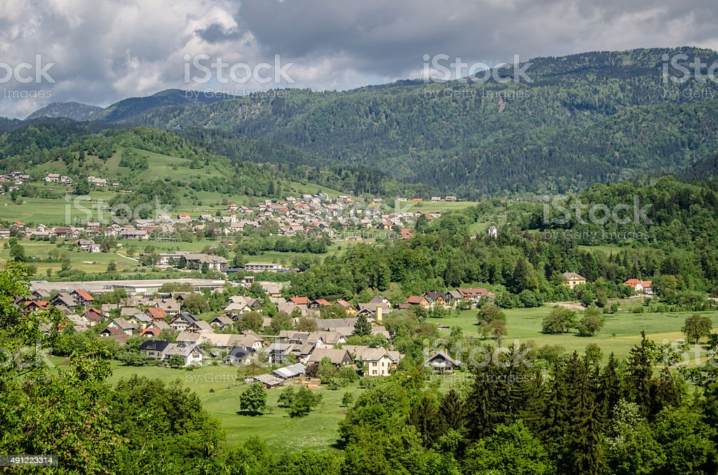 Slovenian Countryside stock photo