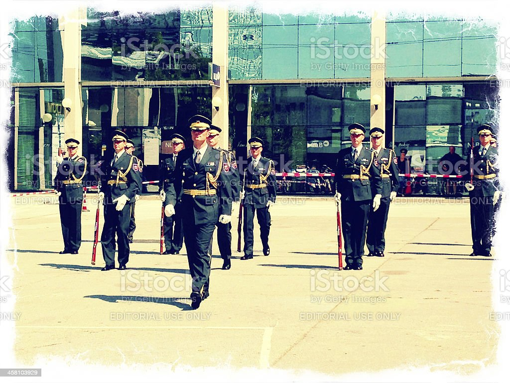 Slovenian Honor Guard in Nova Gorica Slovenia royalty-free stock photo