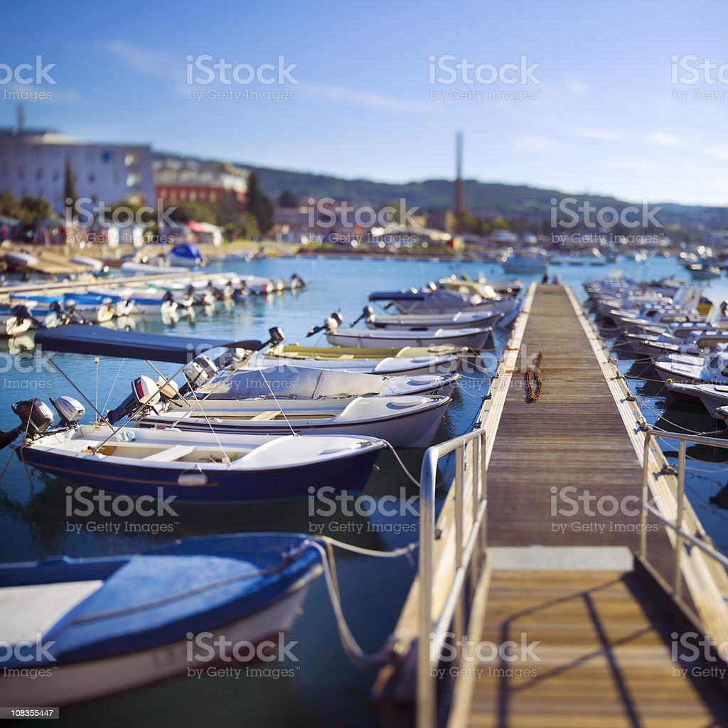 Slovenian Mediterranean marina of Izola royalty-free stock photo