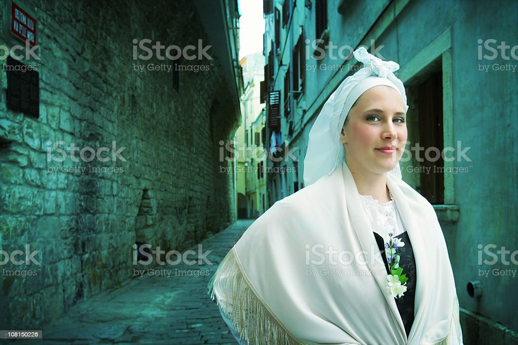 Slovenian traditional costume stock photo