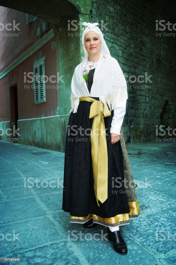 Slovenian typical costume royalty-free stock photo