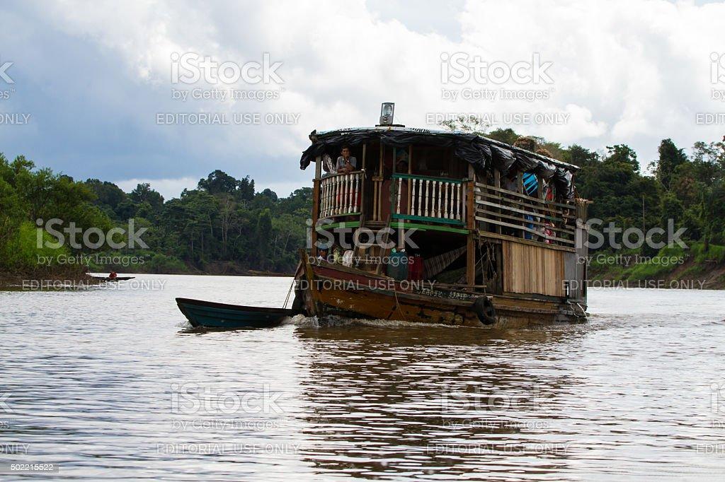 Slow Amazon Riverboat Transport stock photo