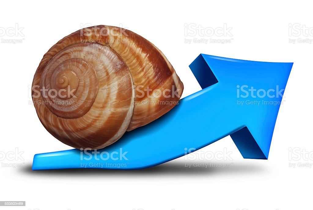 Slow Business Growth stock photo