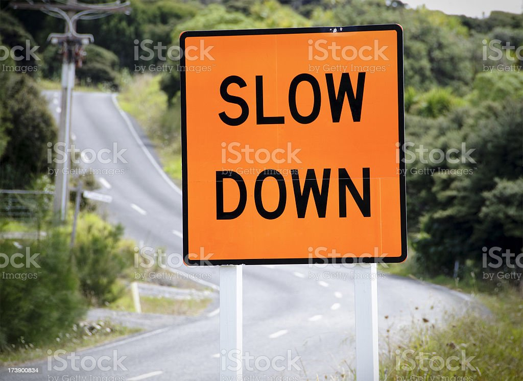 'Slow Down' Sign royalty-free stock photo