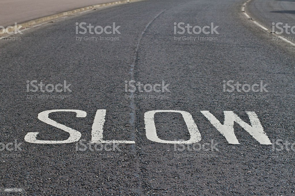 Slow Down your speed stock photo