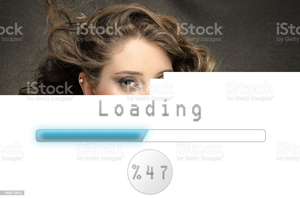 Slow download concept stock photo